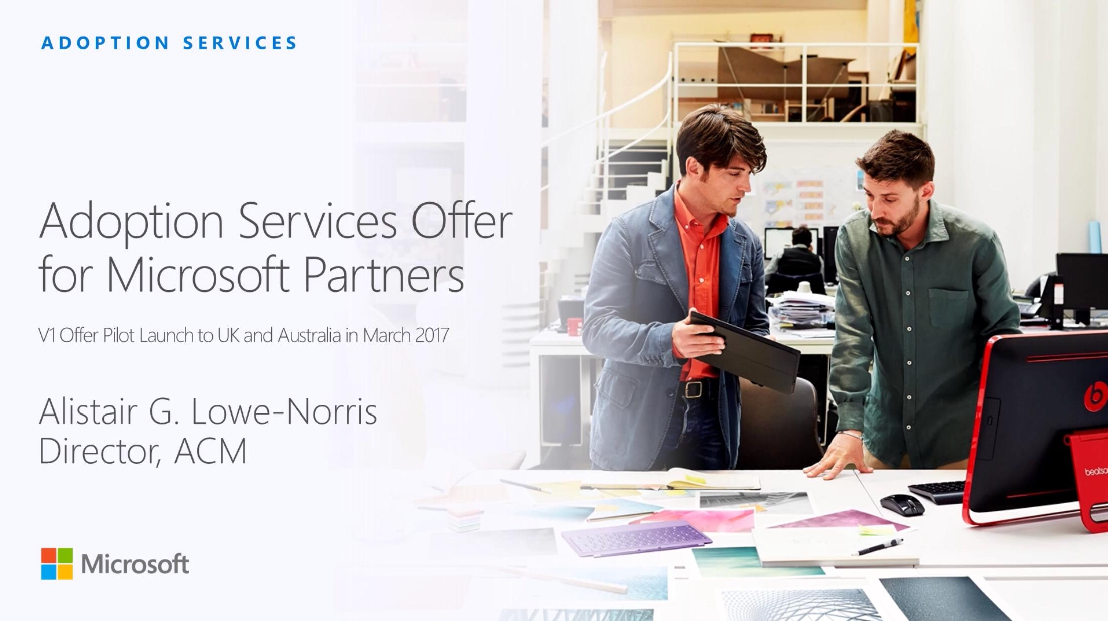 Microsoft Adoption and Change Management Partner program