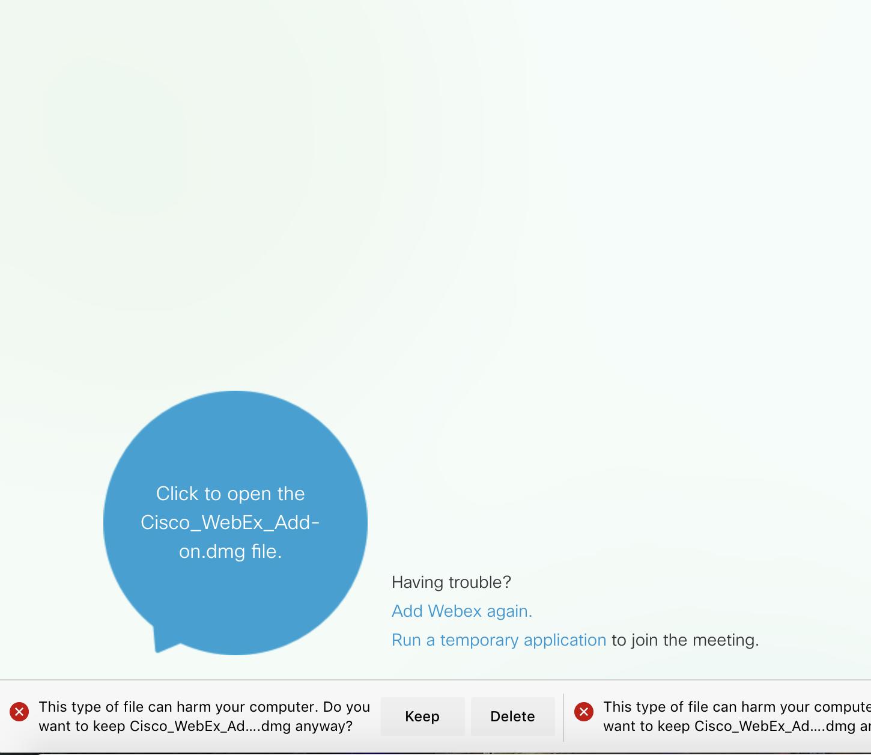 Edge on MacOS not working with Cisco WebEx desktop app