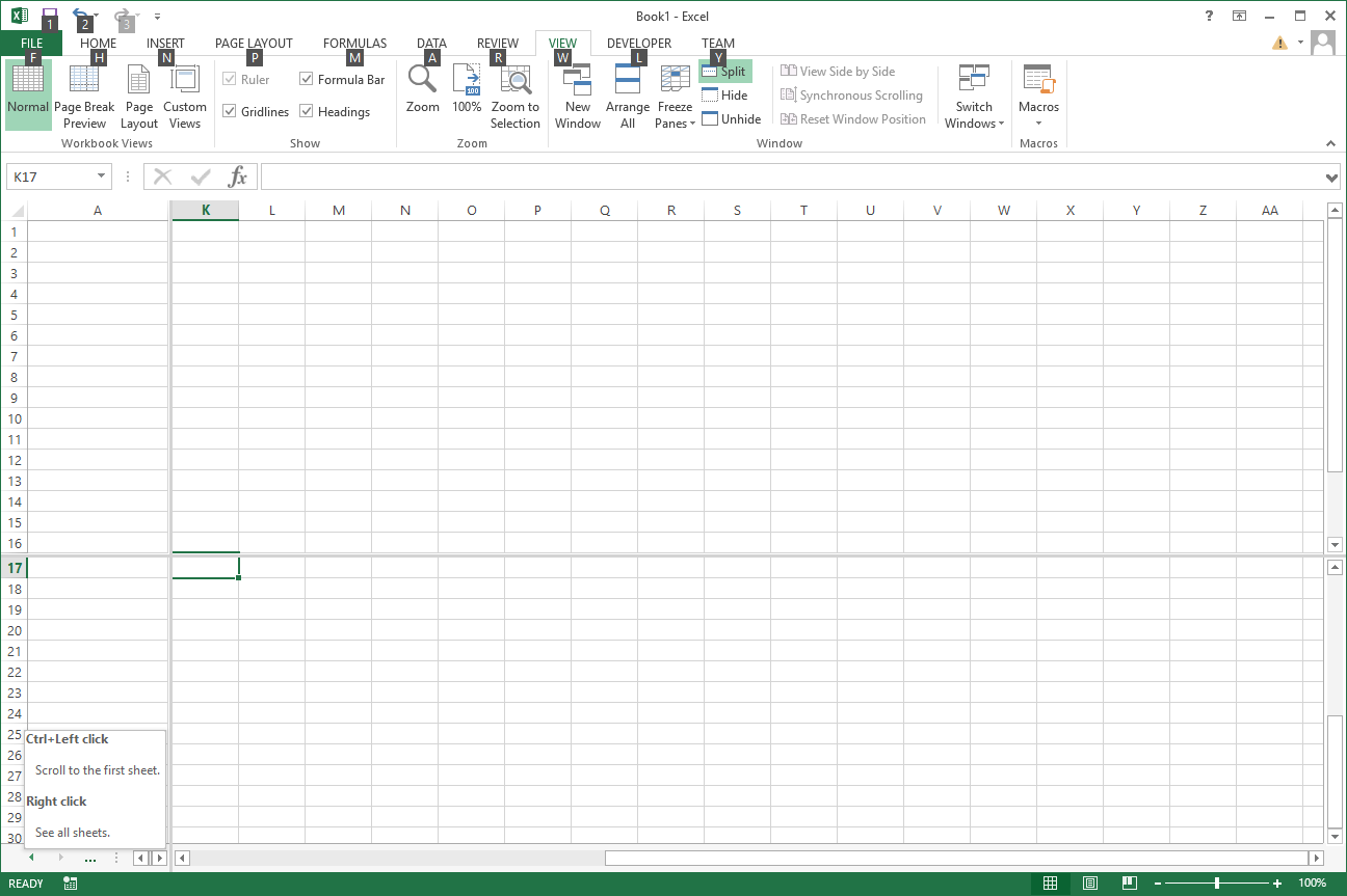Missing Excel 2013 worksheet tabs - Microsoft Tech Community - 112338