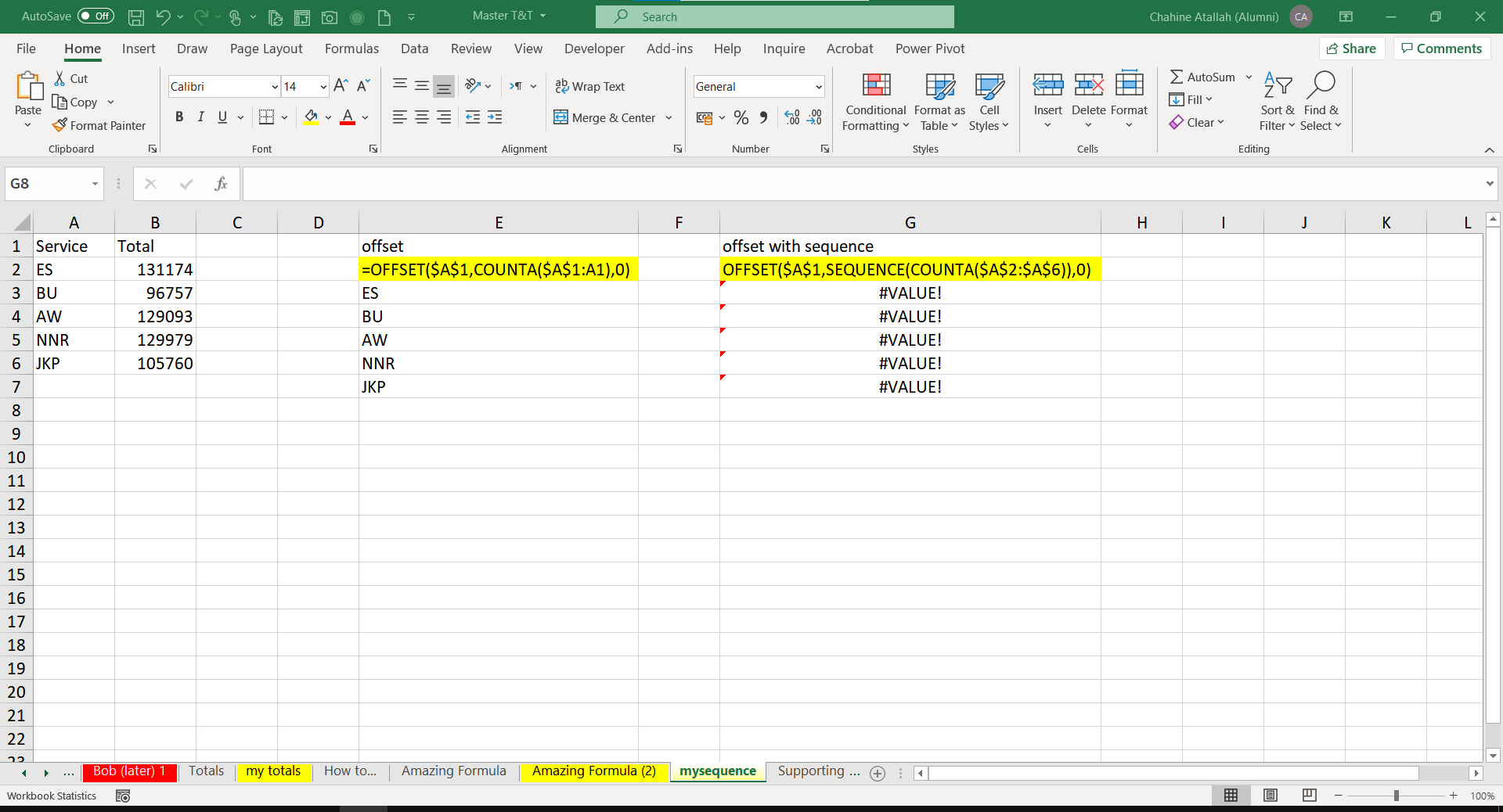 using sequence function for row numbers in offset   Microsoft Tech ...