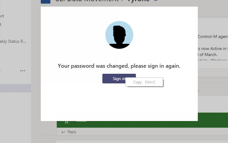 Domain password reset - Teams repeatedly asks to login - Microsoft Tech  Community