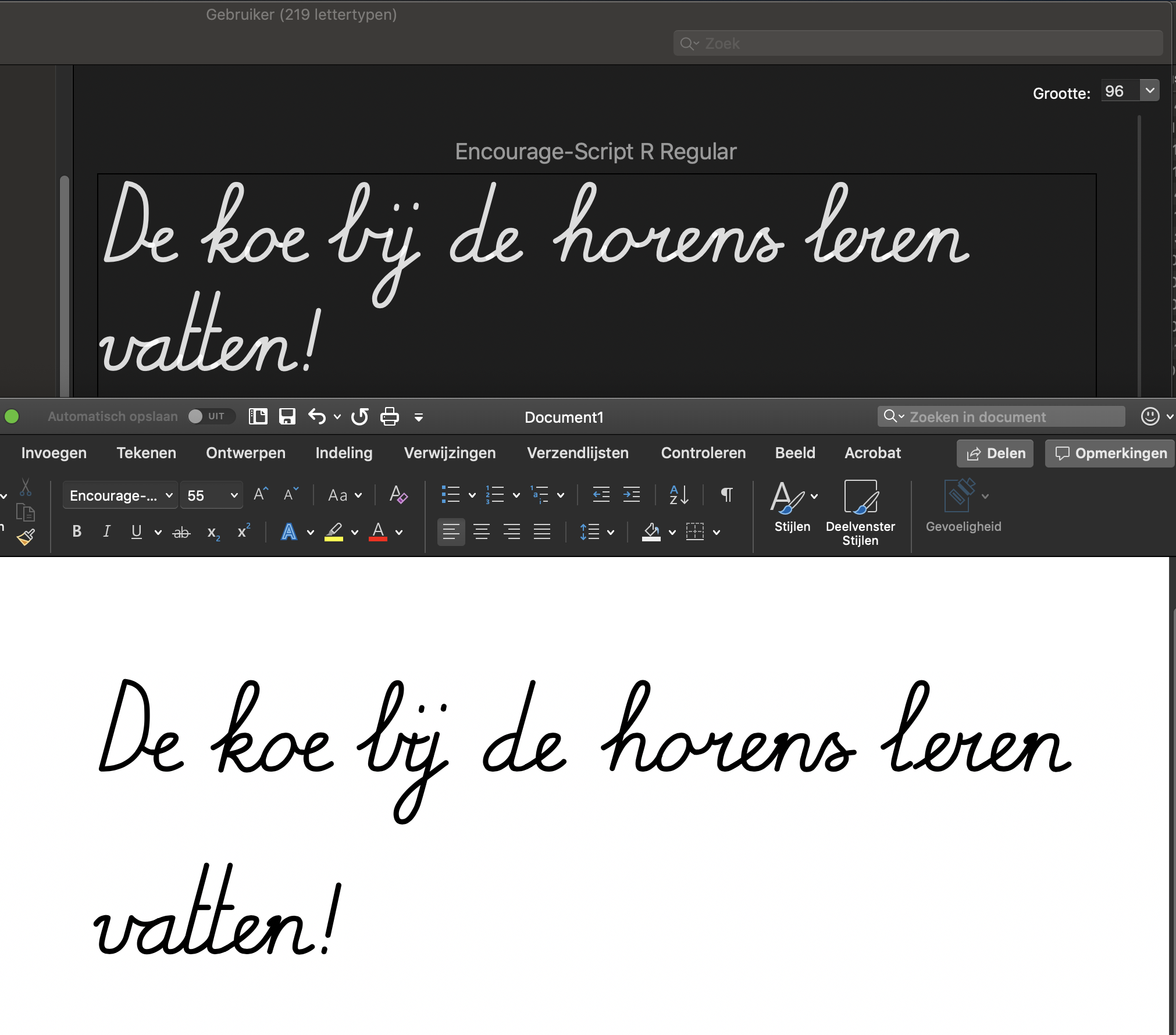 Font with Contextual Alternatives in Word - Microsoft Tech Community
