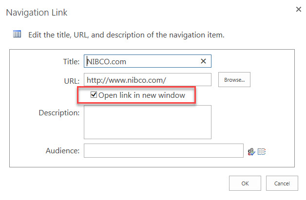 SharePoint Online Global Navigation-open in tab - Microsoft