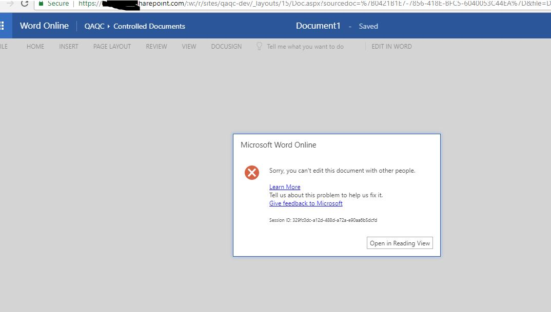 Word Online - Can't edit document with other people - Microsoft Tech