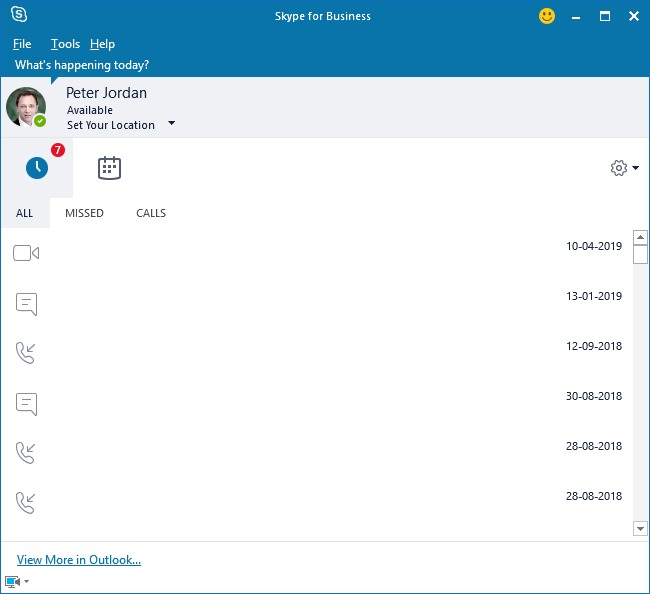 Contacts option is not showing in Skype for Business