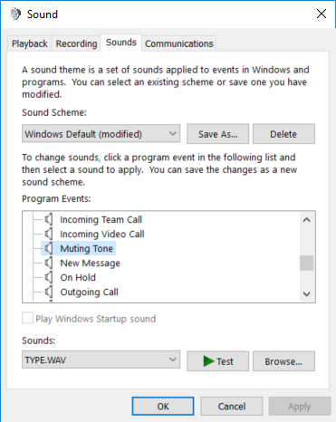 Is there anyway to turn off the mute announcement in Skype for