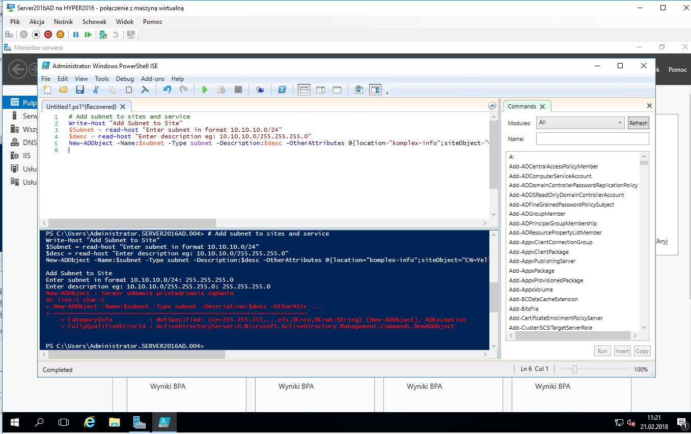 Problem to setup DNS server on Windows Server 2016
