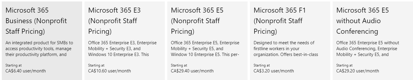 Any plans to make Microsoft 365 available under the non