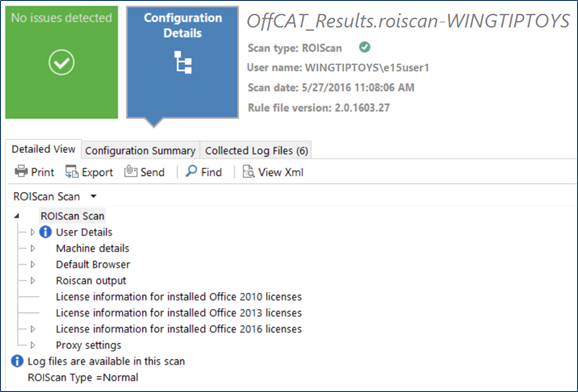 Upgrade to Office Configuration Analyzer Tool (OffCAT