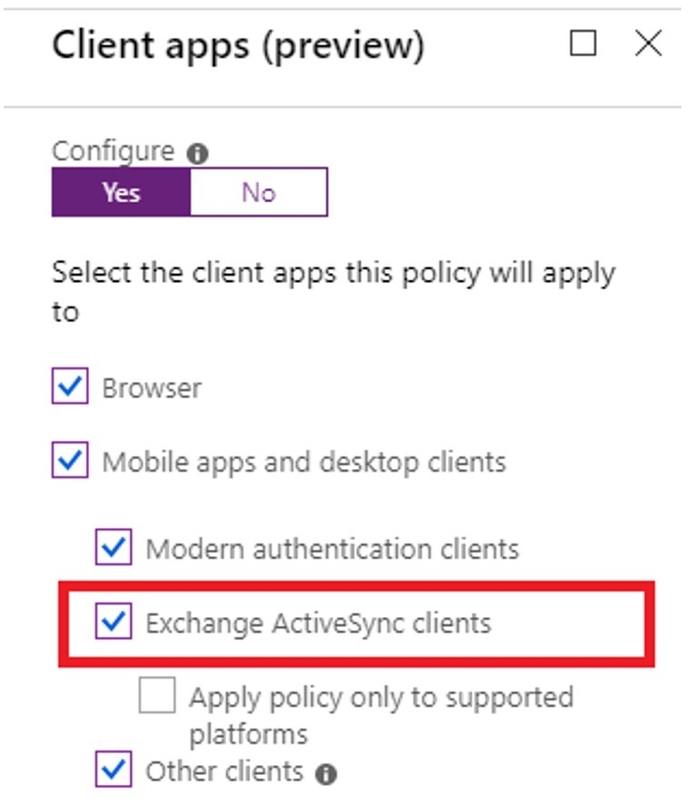 Exchange Online - Modern Authentication and Conditional Access