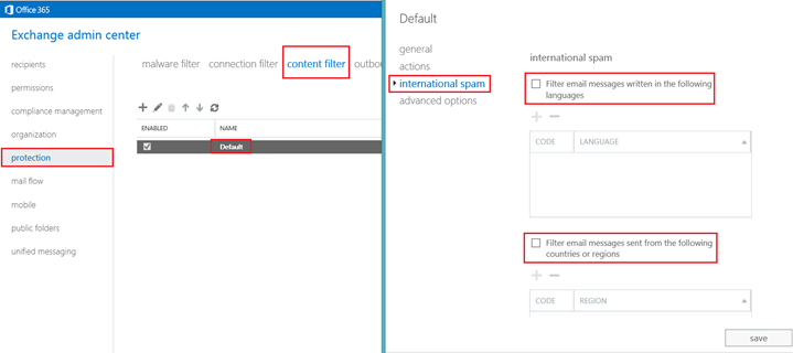 Spam email and Office 365 environment - connection and