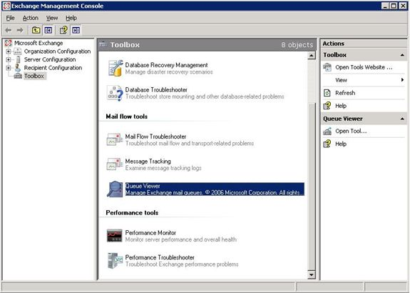 A quick tour of Queue Viewer in Exchange Server 2007 - Microsoft