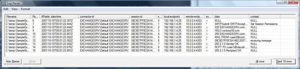 Advanced Exchange 2007 Transport Logs Troubleshooting using