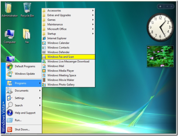 How to Configure Fax On Windows Vista for an SBS 2003