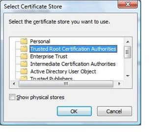Installing a Self-Signed Certificate as a Trusted Root CA in Windows