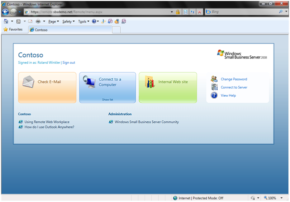 Remote Working Enabled by Windows Small Business Server 2008
