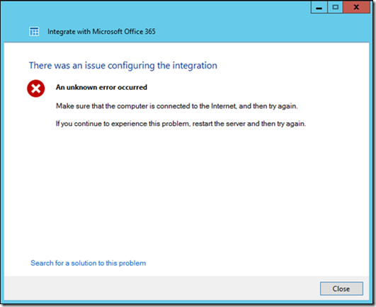 Windows Server 2012 Essentials/R2 Essentials may fail to integrate with  Microsoft Office 365 - Microsoft Tech Community