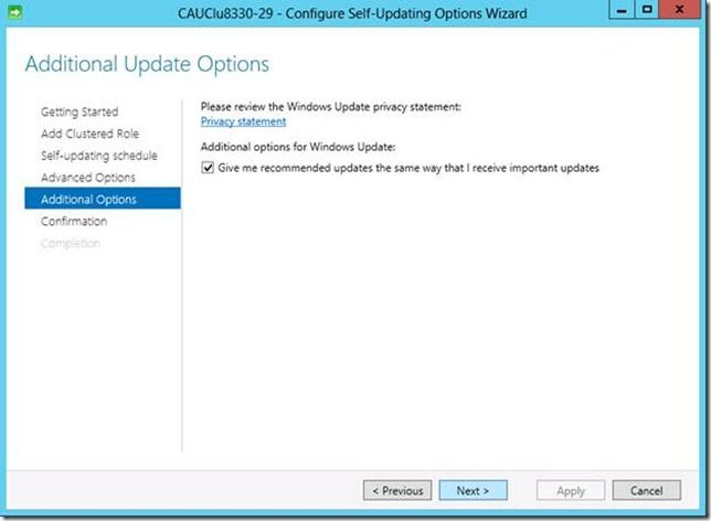 Cluster-aware updating cau updating acer drivers