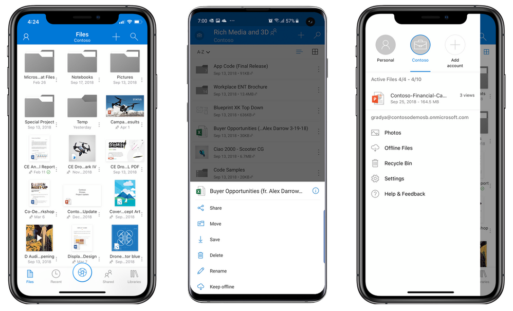 Stay connected to all your files from any device. Edit, share, access photos and take files offline while on the go.
