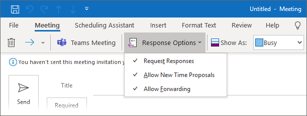 Allow Forwarding of a meeting invitation