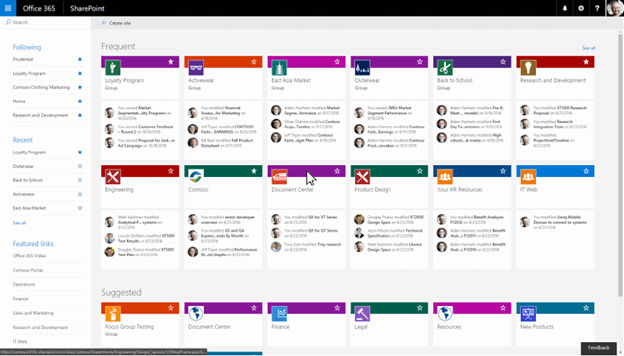 Create Office 365 Group-connected team sites from SharePoint home