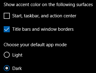Show accent color -- Title bars and window borders.png