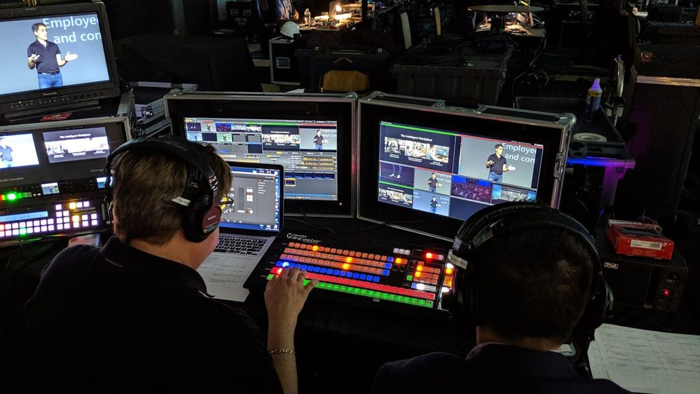 Behind the scenes directing for SharePoint Conference 2019 keynote with Jeff Teper.