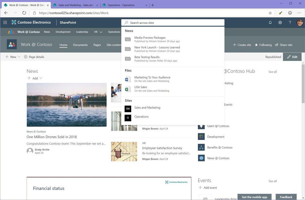 MicrosoftSearchInHubSite.JPG