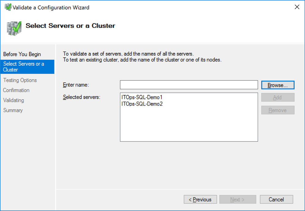 Validate a Configuration Wizard