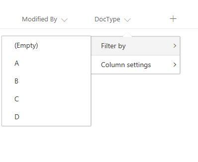 Column filter