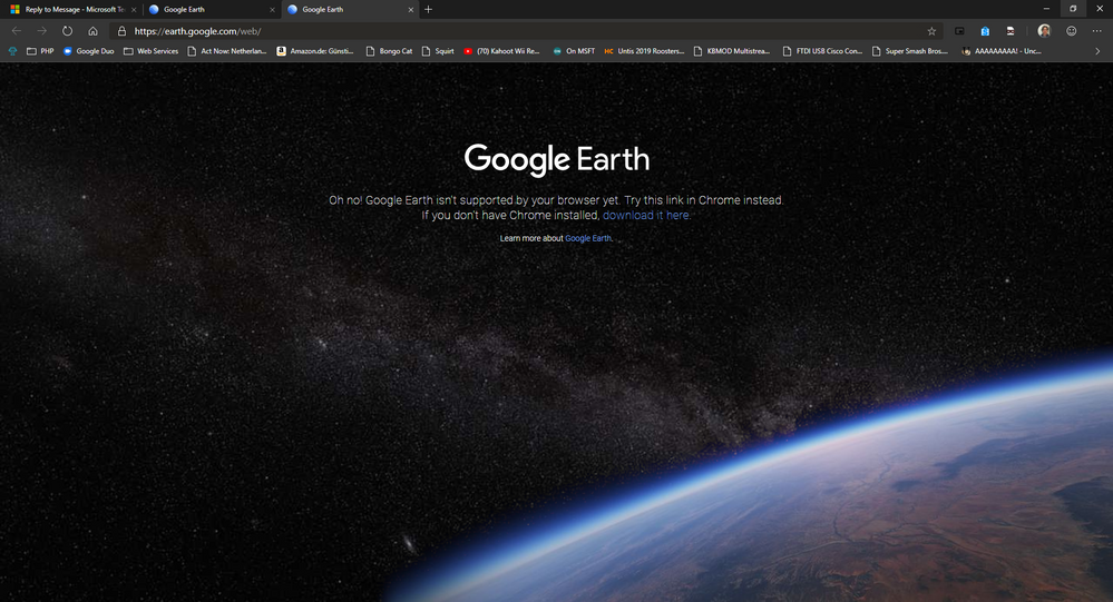 Google Earth: After clicking launch