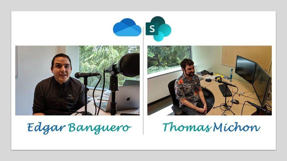 Left-to-right: Edgar Banguero, principal engineering manager (OneDrive-SharePoint/Microsoft) [Intrazone guest] and Thomas Michon, senior software engineer (OneDrive-SharePoint/Microsoft) [Intrazone guest].