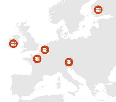 This map shows the datacenter locations where we store core customer data at rest for new customers who choose to provision their Office 365 tenant in the European Union (EU) Geo.