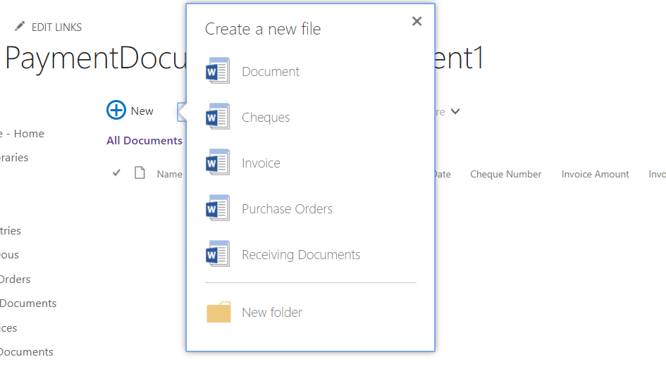 5. Classic exp shows all content types under document set properly