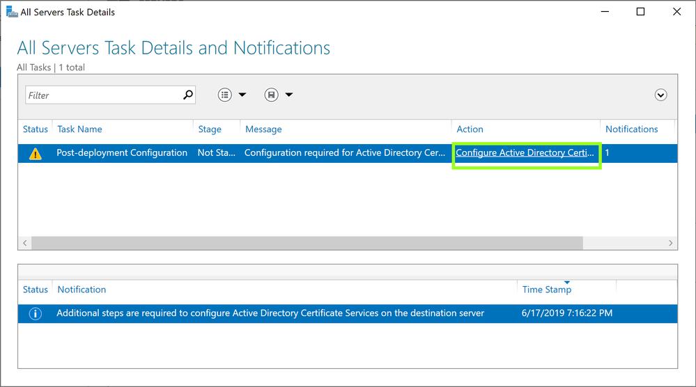 Configure Active Directory Certificate Service