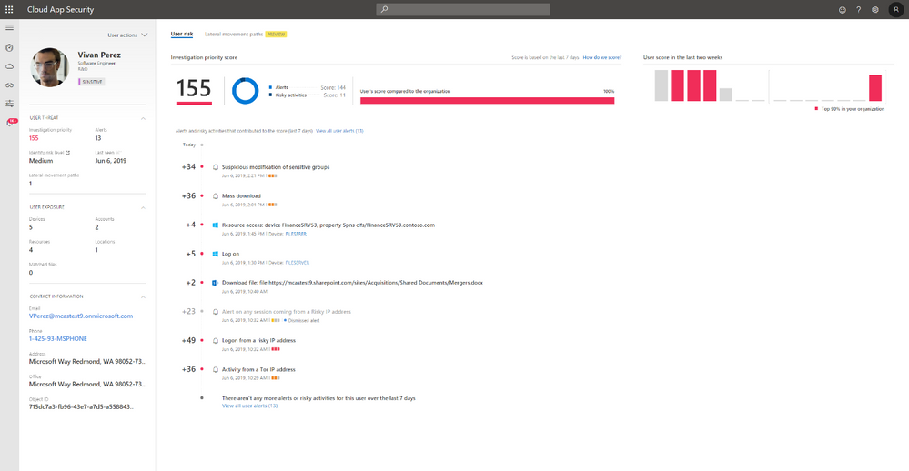 Image 2: New user page in the Cloud App Security portal