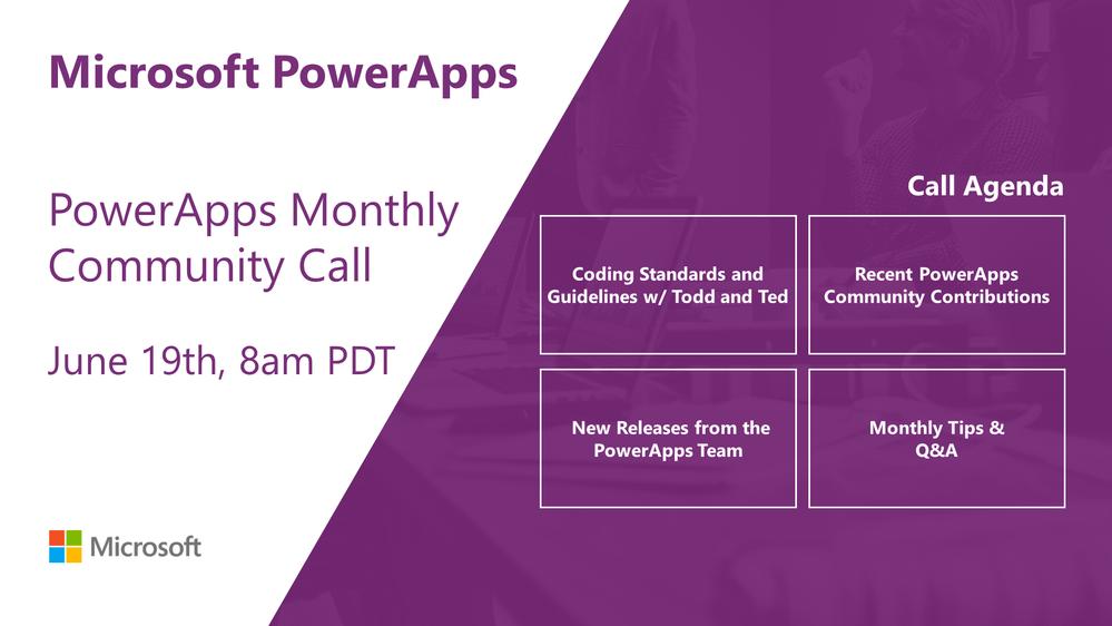 PowerAppsCommunityCall_June_Agenda .png