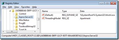 Reg value is REG_EXPAND_SZ on Windows 7