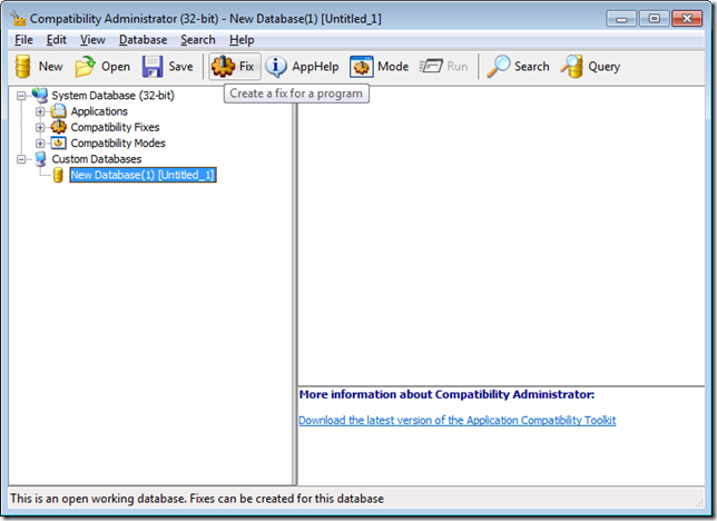 Shimming with Compatibility Administrator