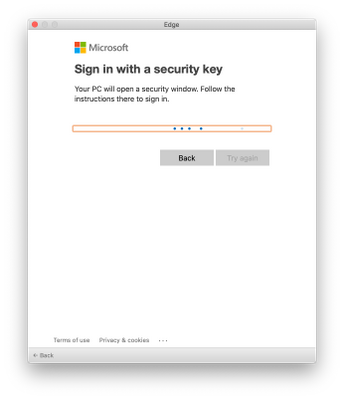 Sign in with a security key
