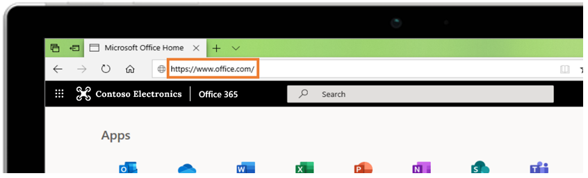 Use Office on the web at Office.com