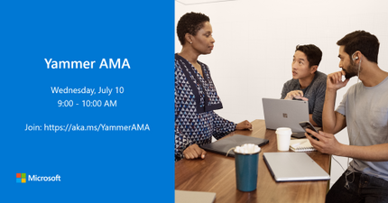 """An AMA is a live online event similar to a """"YamJam"""" on Yammer or an """"Ask Me Anything"""" on Reddit. The Windows as a service AMA will give you the opportunity to connect with members of the Windows product and engineering teams, who will be on hand to answer your questions and listen to feedback."""