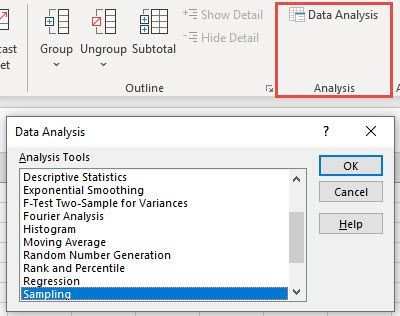 Analysis Toolpak on the Data tab