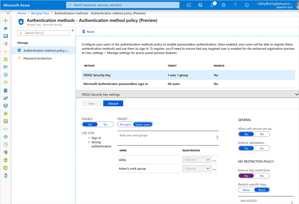 Public preview of Azure AD support for FIDO2 based passwordless 3.png