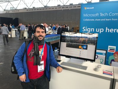 Juan Carlos González Martín at the Amsterdam Microsoft Tech Summit