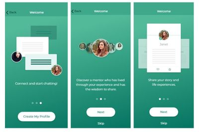 App onboarding: Get tips on how to get started and complete your profile on the Community Mentors app!