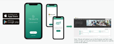 Be sure to download the app and login with your Microsoft Tech Community credentials. If you don't have one, you will be prompted to create one.