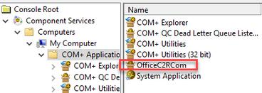 Example of running dcomcnfg.exe