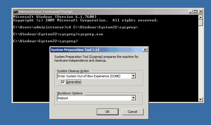 Sysprep Virtual Machine