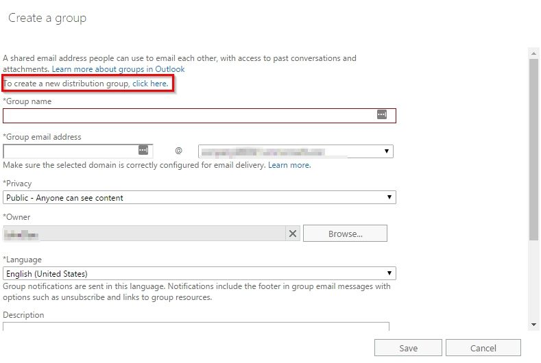 """Distribution group"""" in Exchange online - Microsoft Tech Community - 57742"""